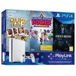 Sony PS4 White 500 Go + 3 jeux PlayLink : Qui-es-tu ? + Knowledge is Power + Hidden Agenda