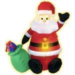 Décoration Père Noël gonflable (122 cm)