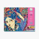 Djeco Feutres pinceaux - Jeunes filles aux cerisiers
