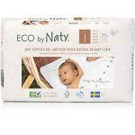 Eco by Naty Lot de 4 paquets de couches Taille 1 Nouveau né 2-5 kg 25 pcs