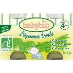 BabyBio Petit Pot Légumes : Légumes verts 2 x 130g - dès 4 mois
