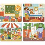 Vilac Puzzles de 6 à 16 pièces : 4 puzzles évolutifs : Les métiers