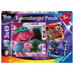 Ravensburger Puzzles 3 x 49 pièces Tournée mondiale Trolls 2