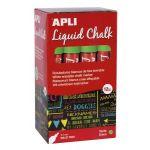 APLI 16903 - Boîte de 12 marqueurs à craie liquide, pointe ronde 5,5 mm, vert