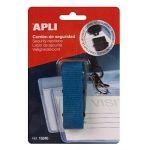 APLI 15241 - Lacet de sécurité pour badge, coloris bleu