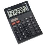 Canon AS-120 - Mini-calculatrice de bureau à 12 chiffres au design arqué