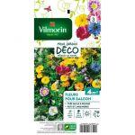 Vilmorin Mélange graines de fleurs annuelles FLEURS DE BALCON - Fleurs de balcon - Ce mélange d'espèces faciles à réussir - Avec une floraison continue durant tout l'été.