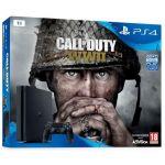 Sony PS4 Slim 1 To + Call of Duty : World War II + Qui-es-tu ?
