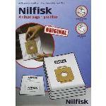 Nilfisk 1470286500 - 4 sacs + 1 pré filtre pour aspirateurs des séries King et Extreme