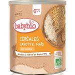 BabyBio Céréales Carotte Maïs – 220 gr