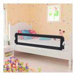 VidaXL Barrière de de sécurité de lit enfant Gris 150x42 cm Polyester