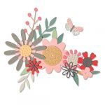 Sizzix Set de matrices Thinlits - Fleurs et Papillon - 17 Pcs