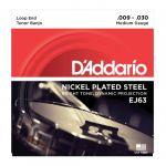 D'Addario EJ63 Jeu de cordes en nickel pour banjo ténor - 9-16-23-30