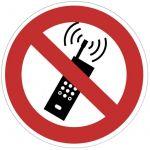 No Name Plaque de signalisation portable interdit - VISO - adhésif - D28 cm