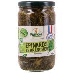 Priméal Épinards en branches bio origine France - 720 ml