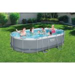 Bestway Piscine Power Steel ovale 488 x 305 x 107 cm