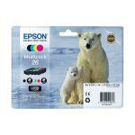Epson T2616 - Multipack de 4 cartouches d'encre n°26 (noire, cyan, magenta et jaune)