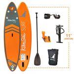 Kangui Stand up Paddle 335cm SUP gonflable + pagaie + sac à dos + pompe haute pression + leash + kit de réparationBALI