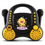 Auna Rockpocket - Lecteur karaoké CD AUX 2x Microphones
