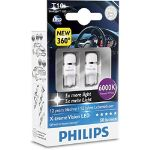 Philips 2 Ampoules T10 X-tremeVision LED 6000K