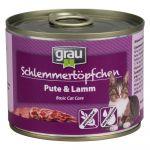 Grau Lot Menu gourmand sans céréales 48 x 200 g pour chat Kitten dinde, truite