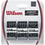 Wilson Surgrip, Profile Overgrip, 3 pièces, Noir, WRZ4025BK