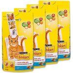 Friskies Chat Croquettes pour adulte stérilisé Saumon & Légumes ajoutés 4 kg - Lot de 4 (16 kg)