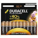 Duracell 20 piles alcalines AA LR06 Plus Power