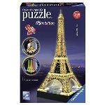 Ravensburger Puzzle 3D - Tour Eiffel de Nuit 216 pièces