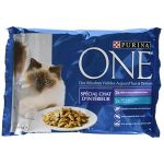 Purina One Chat Repas pour chat adulte Veau & Thon 4x 85 g
