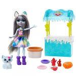 Mattel Enchantimals - Coffret Histoire Stand de Gaufres Hawna Husky et Crème Fouetté