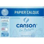 Canson 200006565 - Pochette 12 feuilles Calque satin A4 70/75g/m², surface satinée