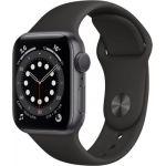 Apple Watch Series 6 GPS, 40mm boitier aluminium argent avec bracelet sport noir