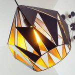 Eglo Lampe pendante noire argent Carlton 1