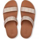 FitFlop Sandales LOTTIE GLITTER STRIPE SLIDES - Couleur 36,37,38,39,40,41 - Taille Beige