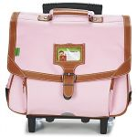 Tann's Cartable à Roulettes 2 Compartiments 38 cm + Trousse Rose