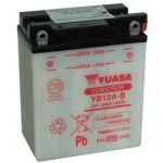 Yuasa BATTERIE YB12A-B L 135mm W 81mm H 161mm Batterie identique a l'origine convient a tous types de 2 roues et quad. Les batteries reconnu pour sa qualité de produit et une durée de vie exceptionnelle. Choisir c'est opter pour la t