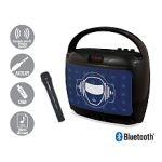 Lexibook Karaoké bluetooth portable avec effets lumineux et micro sans fil