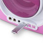 Auna Kara Illumina - Lecteur karaoké CD USB MP3 effets lumineux LED 2 micros