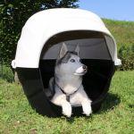 M pets MPETS Niche Igloo en plastique XL - Noir et beige - Pour chien - En plastique - Possibilité de l'installer dehors car elle est très résistante - Noir et beige - Pour chien.