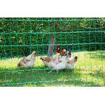 Kerbl Filet à volailles PoultryNet Vert,, double pointe 50m non électrifiable
