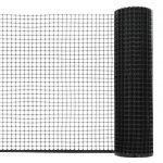 VidaXL Maille de clôture de jardin PEHD 50x0,6 m Noir