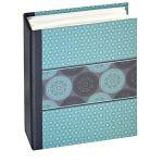 Panodia 271286 Mandala Album Photos Pochettes avec 100 Vues Papier Bleu 5,5 x 14 x 16,5 cm