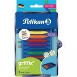 Pelikan Kreativfabrik Crayons de cire griffix, 8 couleurs - Lot de 3