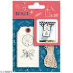 Toga Set étiquettes imprimées et ficelle twine - Hygge - 20 pcs