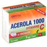 Govital Acérola 1000 Vitamine C - 30 Comprimés à croquer