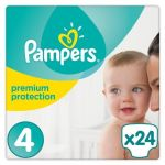 Pampers Premium Protection taille 4 (8-16 kg) - 24 couches