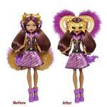 Mattel Poupée Monster High Transformation Clawdeen (FKP47)
