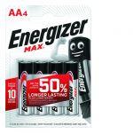 Energizer 4 Piles Max Aa/lr6