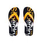 Superdry Scuba Faded Flip Flop, Tongs Homme, Multicolore (Dark Navy/Fluro Orange Swl), 40/41 EU